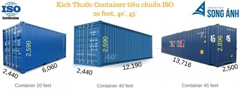 Các loại container trong vận tải quốc tế