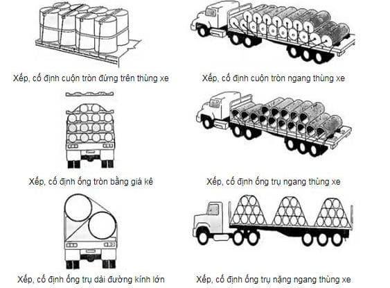 Nguyên tắc xếp hàng hóa lên xe tải an toàn