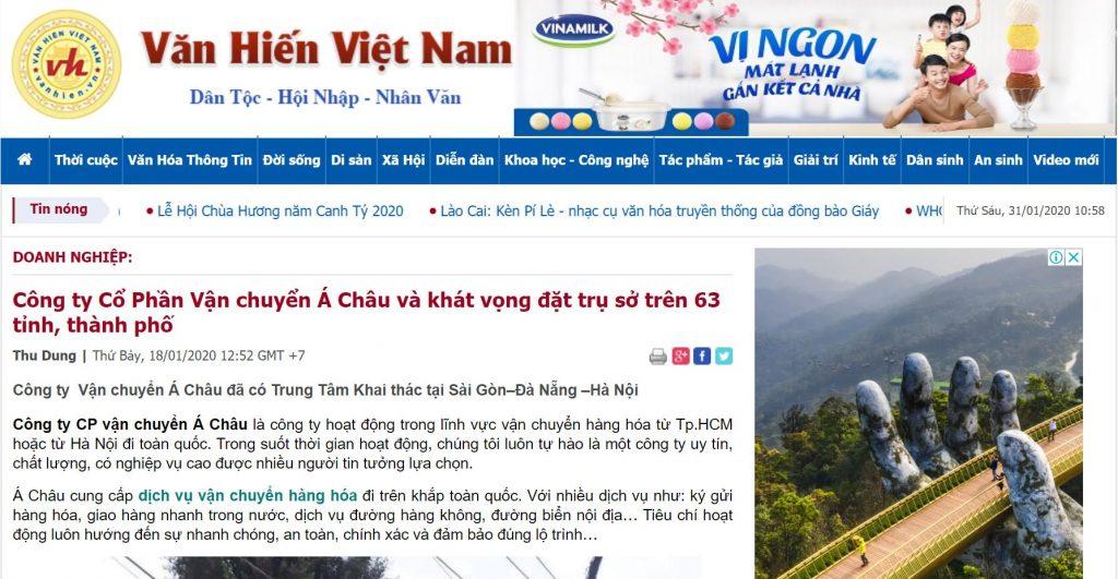 Báo Văn Hiến nói gì về công ty vận chuyển á châu