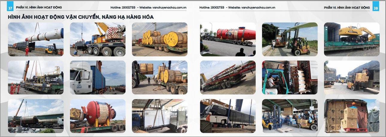Hình ảnh Hoạt động vận chuyển hàng Á Châu