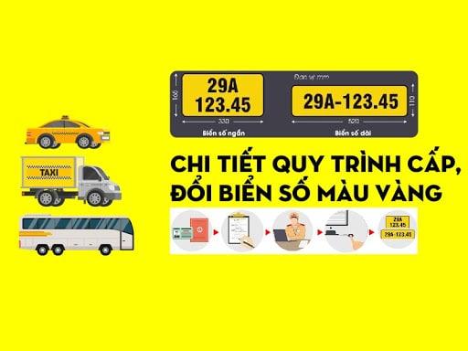 Thủ tục đổi biển số xe màu vàng