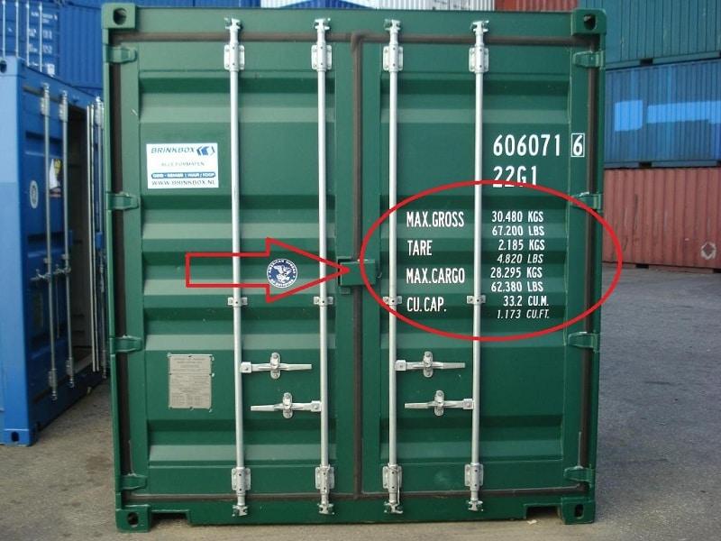Kí hiệu container thường dùng