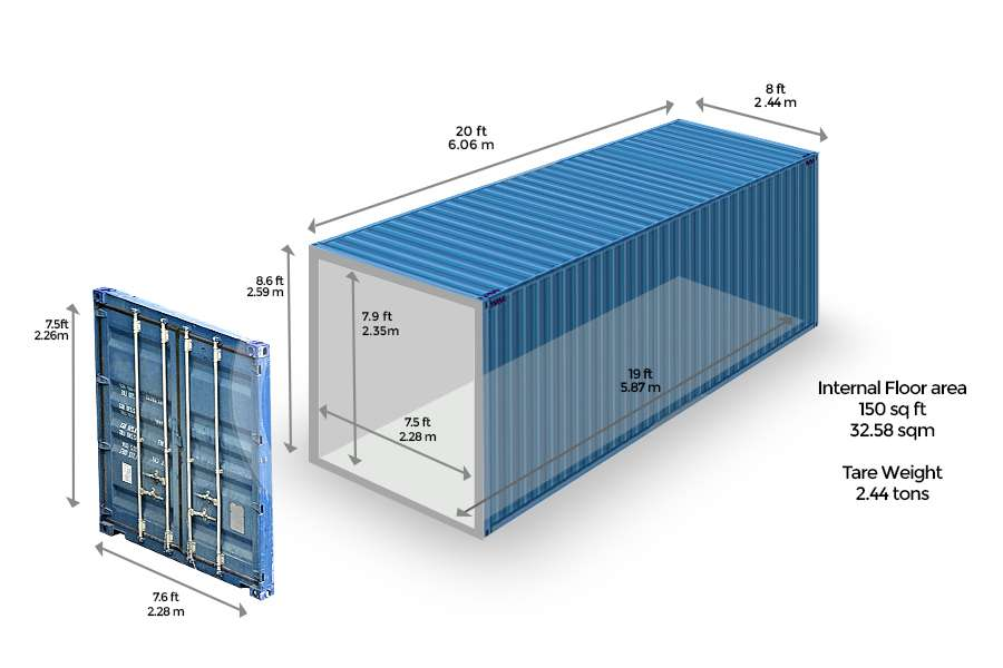 Kích thước của container